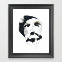sigh of relief Framed Art Print