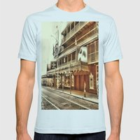 Give My Regards To Broadway Mens Fitted Tee Light Blue SMALL