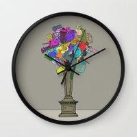 Fleur De Mechanique Wall Clock