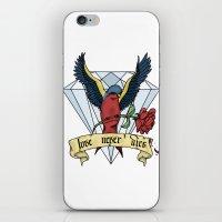 Love Never Dies Swallow iPhone & iPod Skin