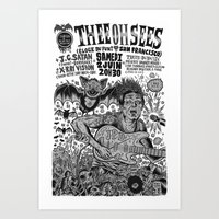 Thee Oh Sees 2012 Art Print