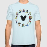 Time To Be A Princess (A… Mens Fitted Tee Light Blue SMALL