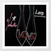 Love Louboutin Art Print