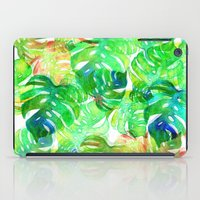 Tropical Leaf Print iPad Case