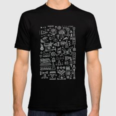 Triangle doodles Black Mens Fitted Tee SMALL