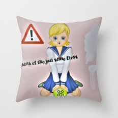 so wrong Throw Pillow