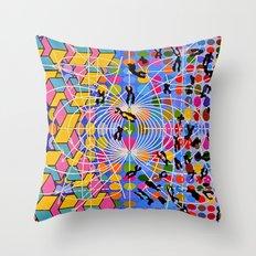 Simstim Throw Pillow