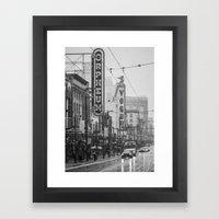 Snowy Granville B&W Framed Art Print