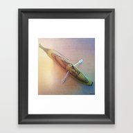 Gnome Chilling In A Bana… Framed Art Print
