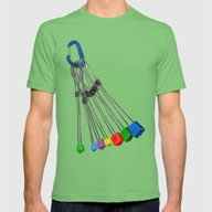 Rock Climbing Wires Mens Fitted Tee Grass MEDIUM