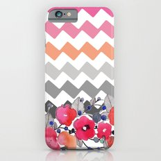 Colourful Flowers and Zig Zags iPhone 6 Slim Case