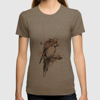 Pearly Parrot  Womens Fitted Tee Tri-Coffee SMALL