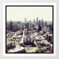 Art Print featuring downtown seattle by sandra lee russell