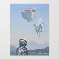 Floating Island Pizza Hu… Canvas Print