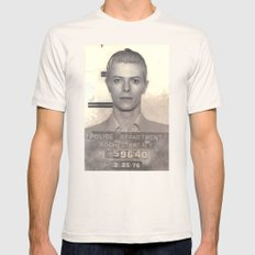 Bowie Mugshot VI Mens Fitted Tee Natural SMALL