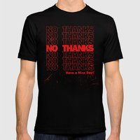 No Thanks Mens Fitted Tee Black SMALL