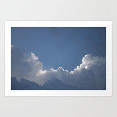 Layered Clouds Art Print