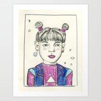 Super Nova Girl Art Print
