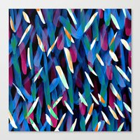 In The Neon Abstract Canvas Print
