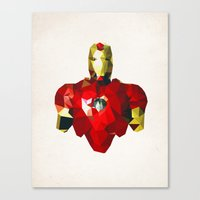 Polygon Heroes - Iron Ma… Canvas Print