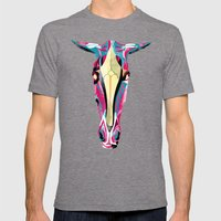 horse Mens Fitted Tee Tri-Grey SMALL
