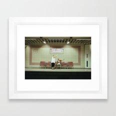 HI HELLO Framed Art Print