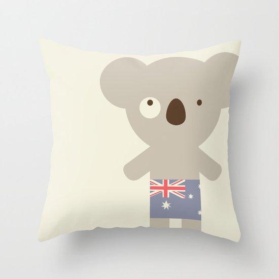 Koala-lala Throw Pillow