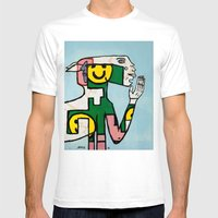 Yawn Again Tristan Mens Fitted Tee White SMALL