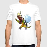 Dewchops Mens Fitted Tee White SMALL