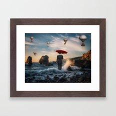 A la Magritte Framed Art Print