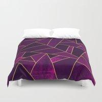 Purple Stone Duvet Cover