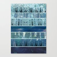 Abstract Sea City Canvas Print