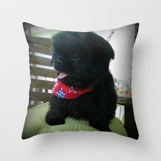 Patriotic Pup  Throw Pillow
