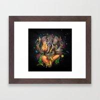 Colorful Ganesh Framed Art Print