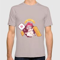 Babes & Videogames  Mens Fitted Tee Cinder SMALL