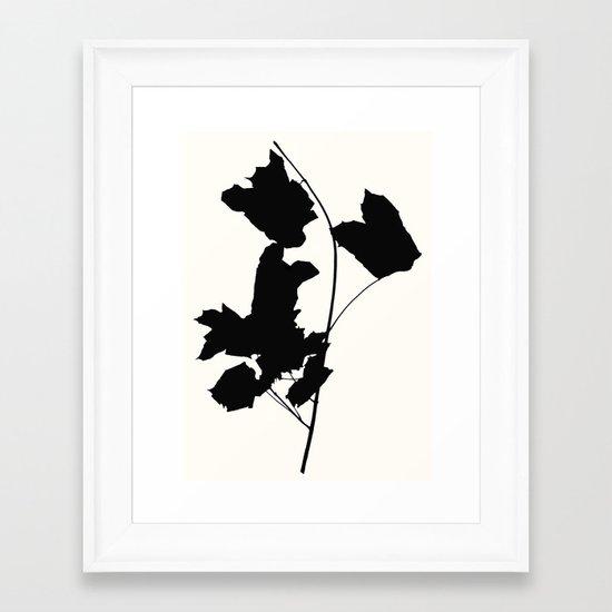 Maple Black Framed Art Print