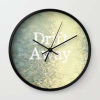 Drift Away  Wall Clock