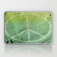 Laptop & iPad Skin featuring Ombre Peace Sign (Bag Ar… by Aries Art