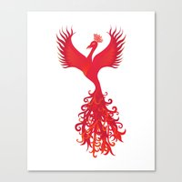 Phoenix Rising - Feng Shui Power Symbol  Canvas Print