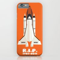 iPhone & iPod Case featuring RIP, space shuttle by Luis Aguilera