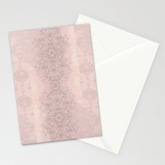 Floral Lace // Pink Semi-Circles Stationery Cards