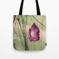 Curling in Purple Tote Bag