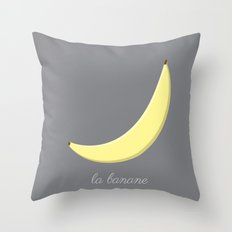 La Banane Throw Pillow