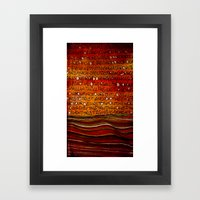LINE AND WORDS -1 in color Framed Art Print