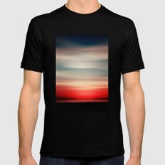 Red White And Blue Mens Fitted Tee SMALL Black