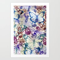 Butterflies And Bugs Art Print
