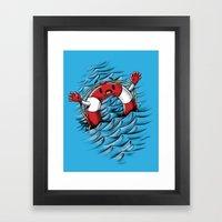 S O S !!! Framed Art Print