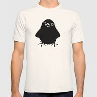 Baby Raven, Wink Mens Fitted Tee Natural SMALL