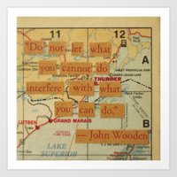 John Wooden Quote Art Print