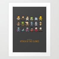 Mega Star Wars: Episode II - Attack of the Clones Art Print